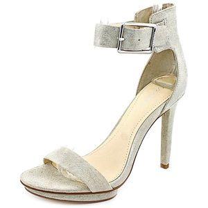 Calvin Klein VIVIAN Ivory Suede High Heels 9